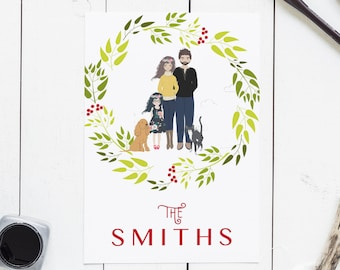 pet christmas cards etsy