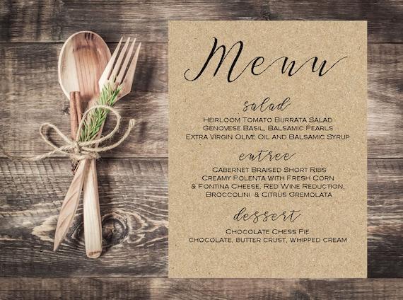 Menü Weihnachten.Kraft Papier Weihnachten Menü Karte Abendessen Menü Speisekarte Hochzeitskarte Braun Hochzeit Gold Menü Tischkarte Gedeck Urlaub Escort Karte