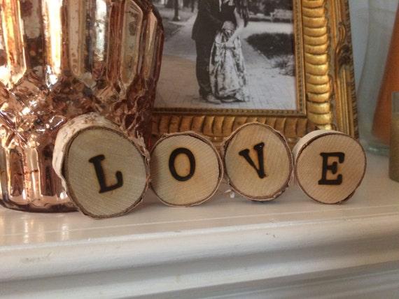Wooden Letter Discswooden Wedding Decorationslast Name Etsy