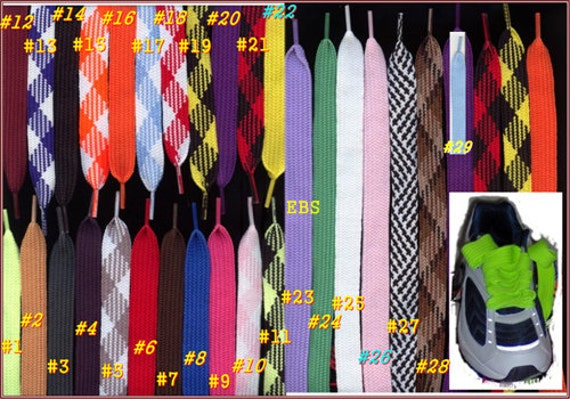 "FAT Flat Athletic Skate Sneaker 52/"" SHOELACES shoe lace strings 3//4 Inch Width"