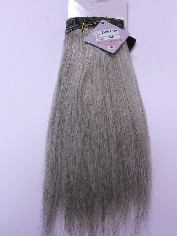 Salt And Pepper 100 Human Weave Hair Extension Straight Etsy