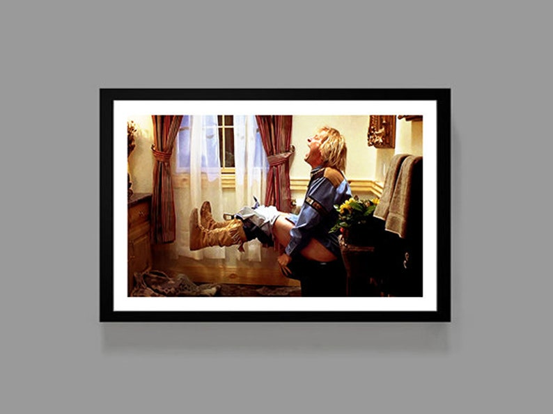 . Dumb and Dumber Movie Poster   Harry Dunne Print   Funny Bathroom  Comedy   Digital Oil Painting  Home  Art
