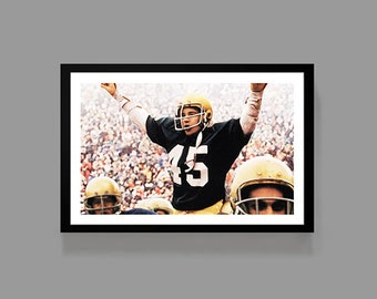 RUDY Movie Poster - Inspirational Sports Poster - Football Poster Print - Motivational, Classic, Digital Oil Painting, Home, Art