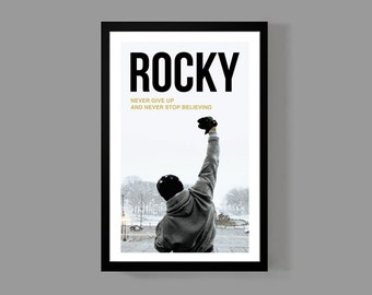 Rocky Movie Poster - Inspirational Quote Print - Motivational, Sports, Boxing, Historic, Iconic