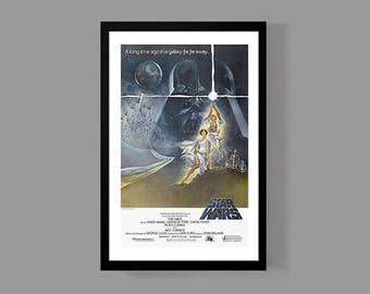 Star Wars : Movie Poster - A New Hope Reproduction Print; Luke Skywalker, Han Solo, Darth Vader, Princess Leia