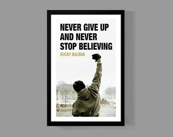 Rocky Movie Poster - Rocky Balboa Inspirational Quote Print - Inspirational, Motivational, Sports, Boxing