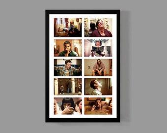 Funny Bathroom Art Movie Poster - Funny Bathroom Compilation - Funny Movie Art, Comedy, Digital Oil Painting, Home, Art