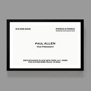 Patrick Bateman Business Card American Psycho Accessory Pouch