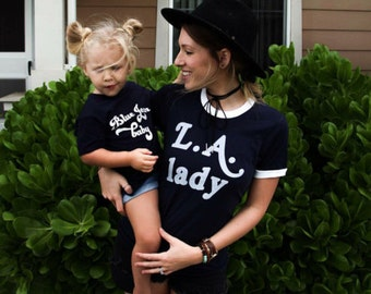 LA Lady Unisex tee **please read sizing BEFORE purchase** blue jean baby, classic rock tee, best friend tees, ladies tees, tiny dancer, bff