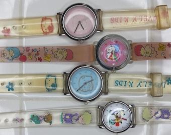 c9b0b8a70 Vintage Sanrio Kawaii Watch Japan Movt Womens Kids Character Hello Kitty  Little Twin Stars Charm Gift Kid Pastel Pink Adult 80s 90s Cartoons