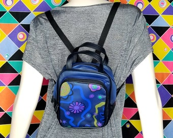 90s Vintage Clear Blue Mini Backpack Miniature Vintage Small Abstract Y2k  Clueless Lizzie Mcguire Aesthetic 1990s 90s 00s Kid Gift c6aae5a628c4b
