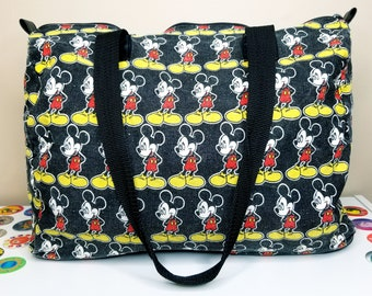 8e38cea913a Vintage Walt Disney Mickey Mouse Large Canvas Duffle Bag Zipper Tote 80s 90s  Disneyland Disney World Nostalgia Aesthetic Gift