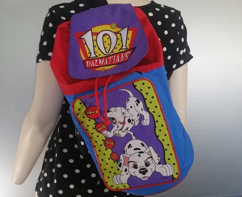 2af76d0581cd Rare 101 Dalmatians Backpack Sling Gym Duffle Bag 90s Kids