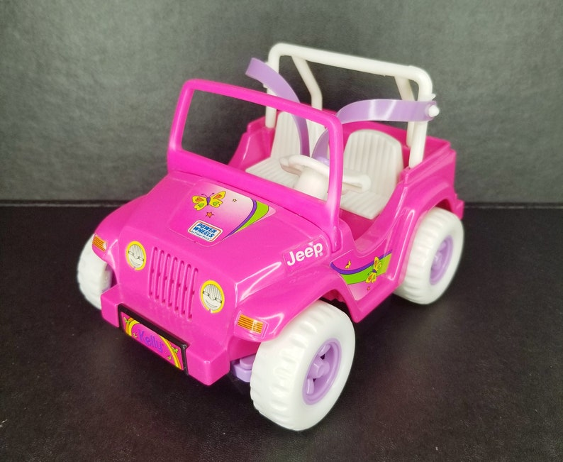 1997 Kelly Doll Power Wheels Jeep Sound Motorized Pink 90s Toy Car Vintage  Barbie Doll Gift