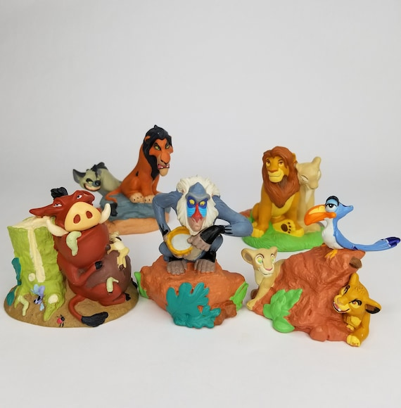 Vintage Lion King Lot Set 90s Lil Classics Figurines Pvc Toy Disney Movie Simba Nala Zazu Rafiki Timon Pumbaa Kids Nostalgia Gift
