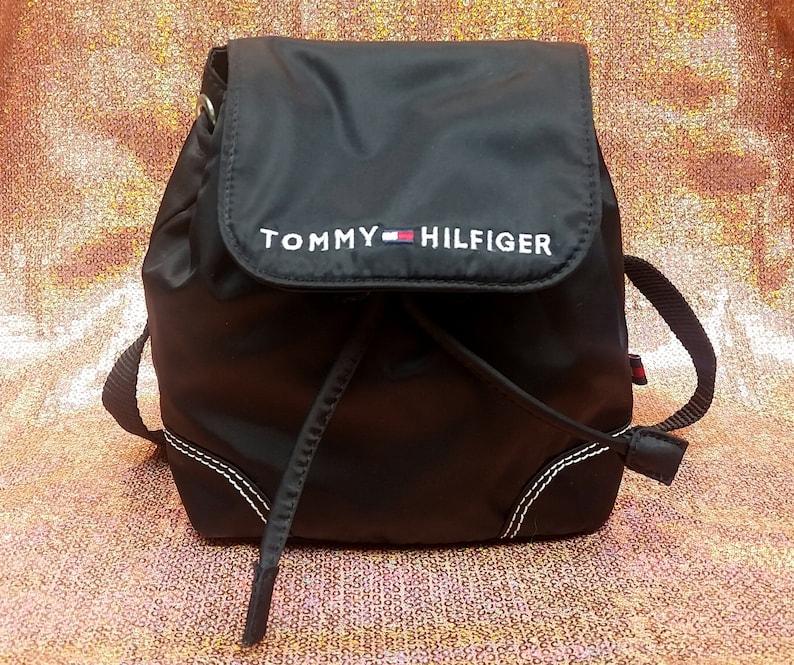 45098f3a40 90s TOMMY HILFIGER Mini Backpack Miniature Vintage Bag Y2k