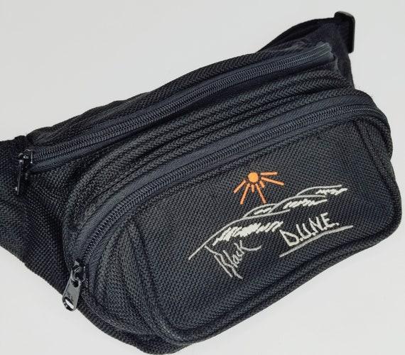 Vintage Black DUNE Fanny Pack Pouch Vintage Large Bum Bag Belt Mens Womens 90s Aesthetic Travel Cali Hiking Sand Dunes Desert Gift