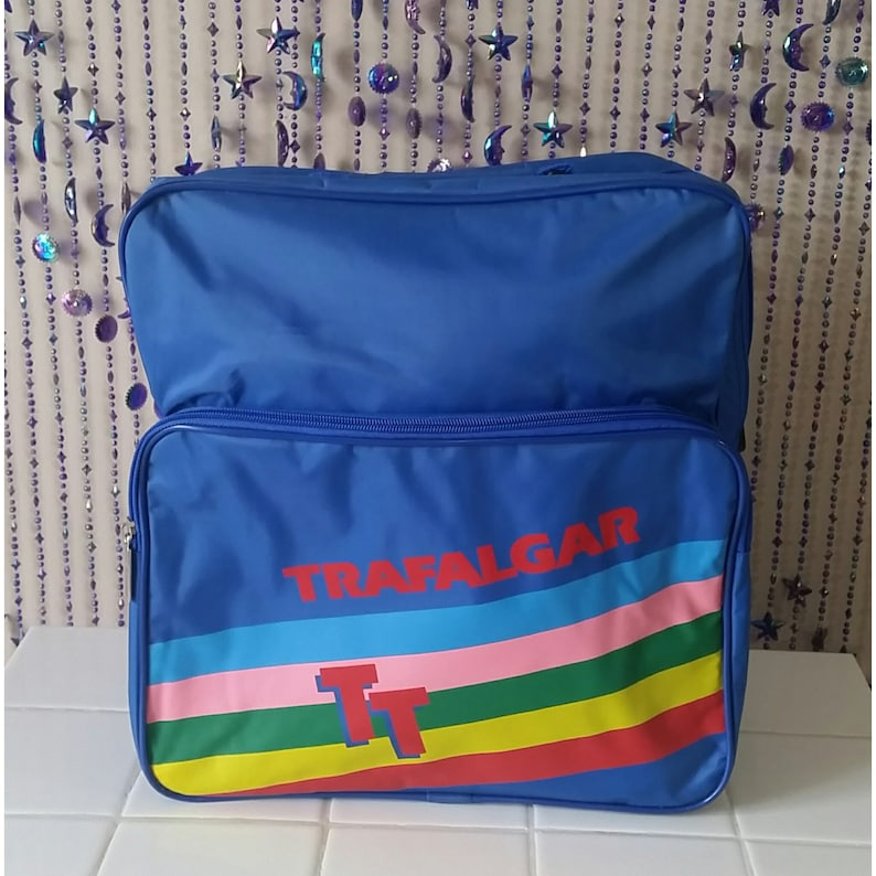 85b1a2db6e0465 SALE Retro 1980s Carry On luggage Trafalgar Statement Bag | Etsy