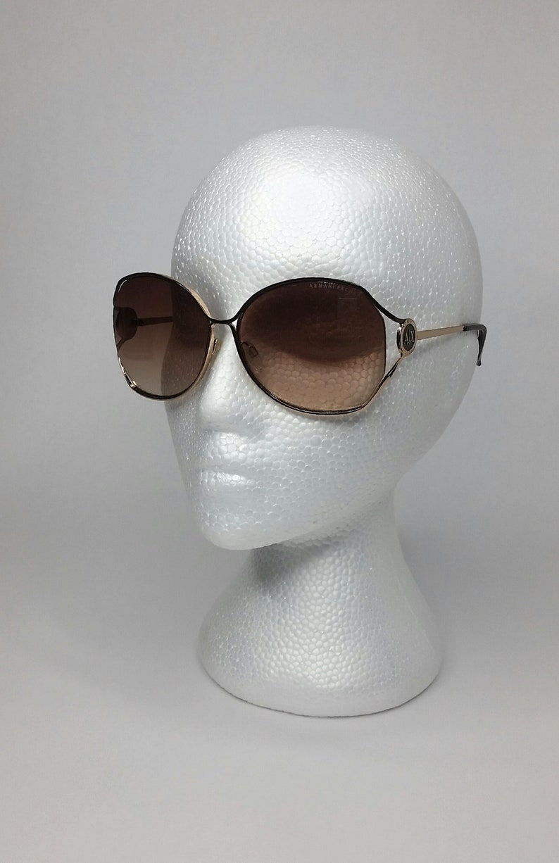 4cb6278876c SALE Armani Exchange Sunglasses Vintage 90s AX143 S 3YG Gold
