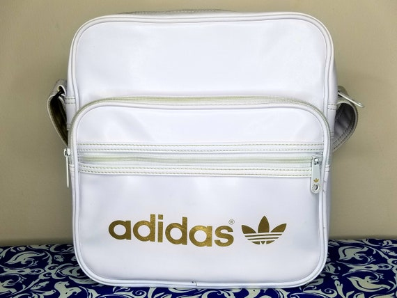 90s Adidas Shoulder Bag Duffle Messenger White Vin