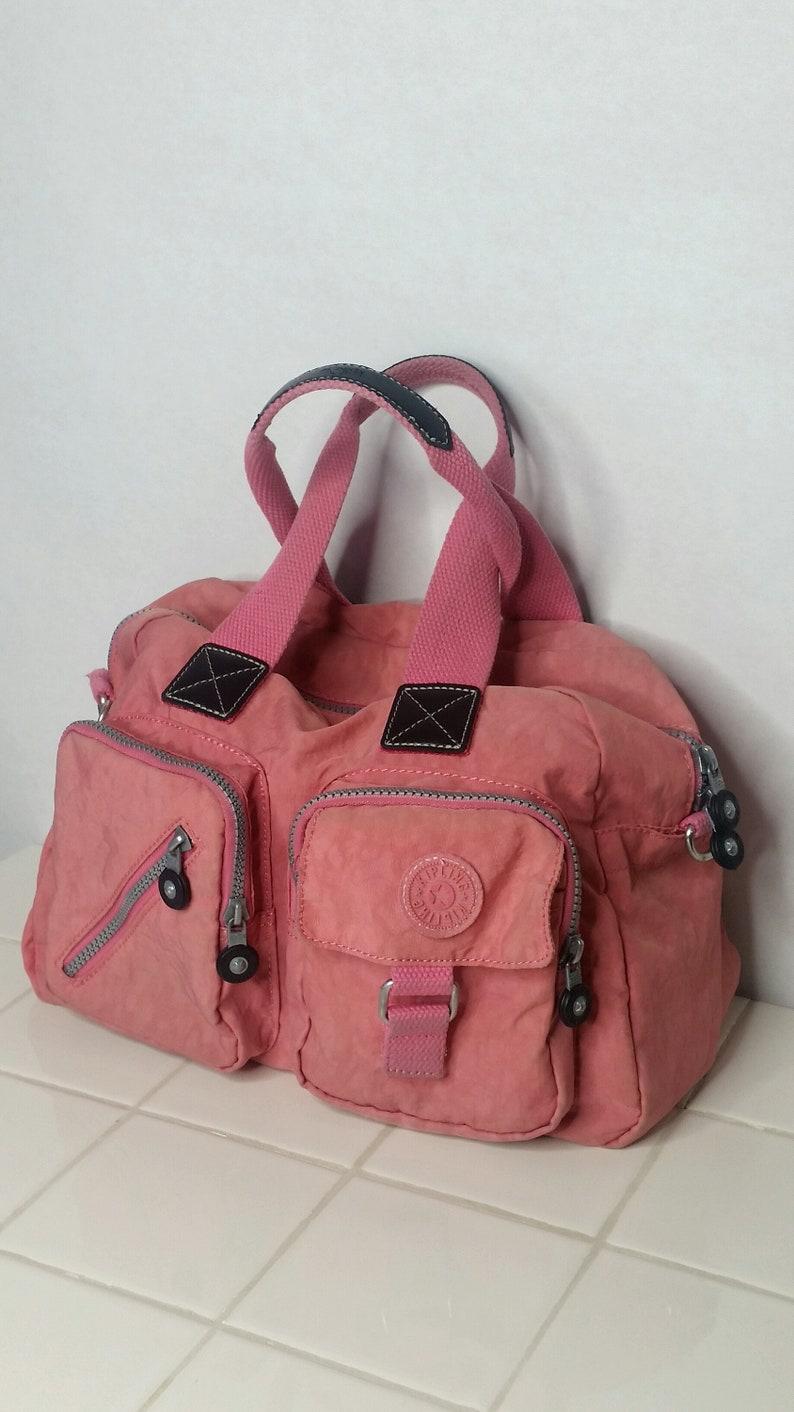 40fd6a00d Vintage 90s Pink Kipling Duffle Bag Handbag Purse Luggage | Etsy
