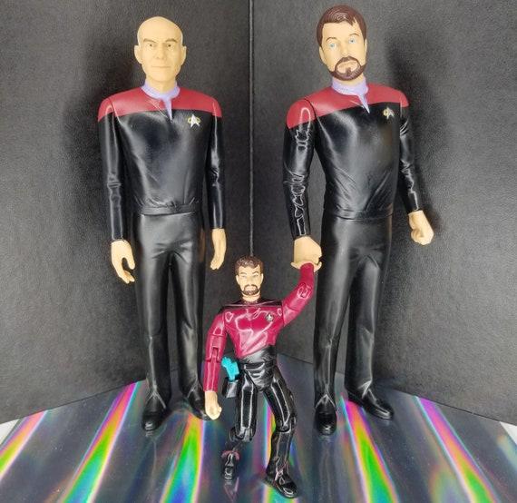 Lot 2 Star Trek HALLMARK ORNAMENTS Picard /& Riker MIB