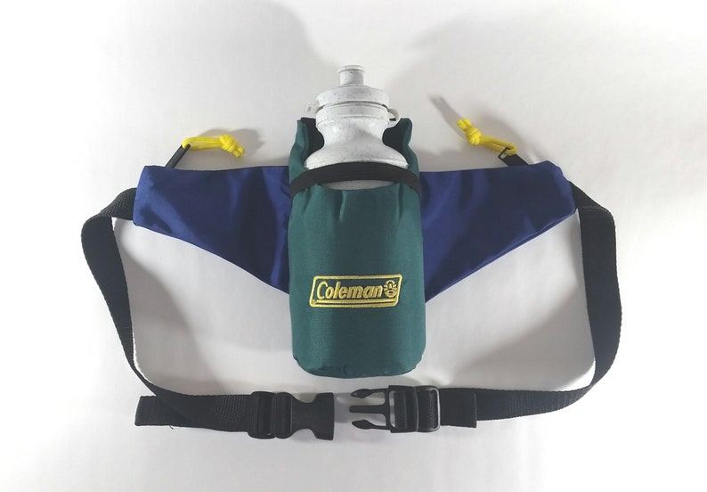 387ca46006e7 Vintage Coleman Water Bottle Fanny Pack Bum Bag 90s Hip Belt Mens Womens  Blue Gr... Vintage Coleman Water Bottle Fanny Pack Bum Bag 90s Hip Belt  Mens Womens ...