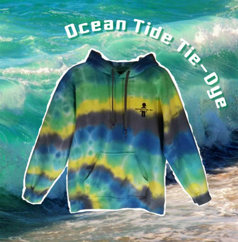 Adult Medium Ocean Tide Tie Dye Sweatshirt Hoodie Womens Mens  241b8ad5a