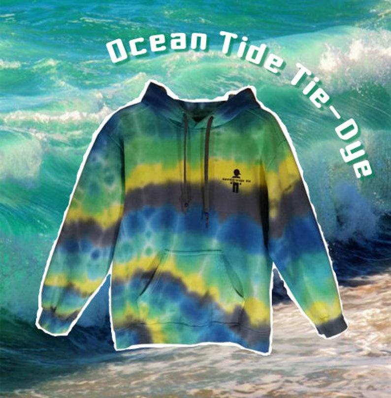 Adult Medium Ocean Tide Tie Dye Sweatshirt Hoodie Womens Mens  f7e3e5268