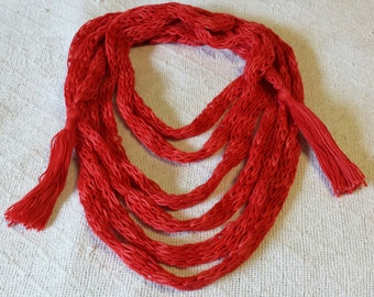 Rope Scarf in Bright Red shades