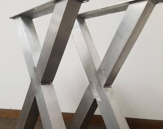 Stainless Items EConWelding - Brushed aluminum table base