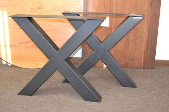 Xl Steel X Frame Table Legs Any Size Color Etsy