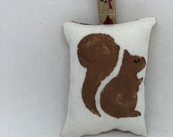 Brown Squirrel Tiny Christmas Ornament Decoration