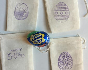 Easter sunday gifts etsy easter gift bags muslin 4 x 3 available in 4 x 6 5 x 7 quantity discounts great for kids class teachers sunday school negle Choice Image