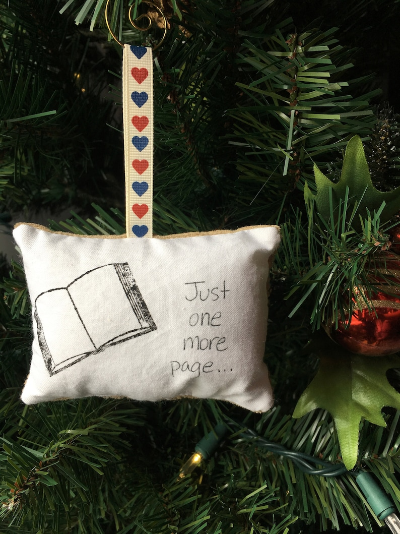 Open For Christmas Orders.Open Book Just One More Page Christmas Ornament Reader Gift Library Librarian Book Lover