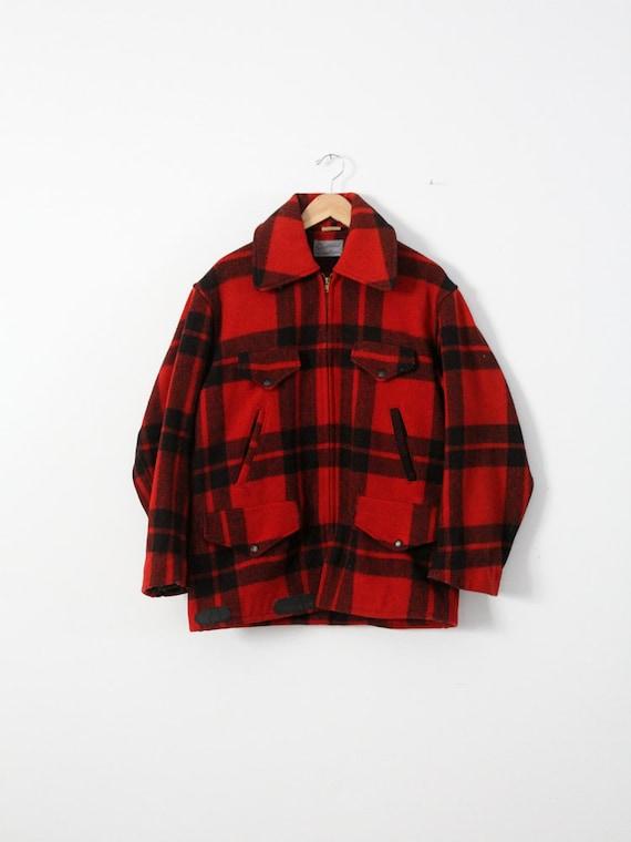 vintage Sportclad wool jacket,  1940s red plaid me