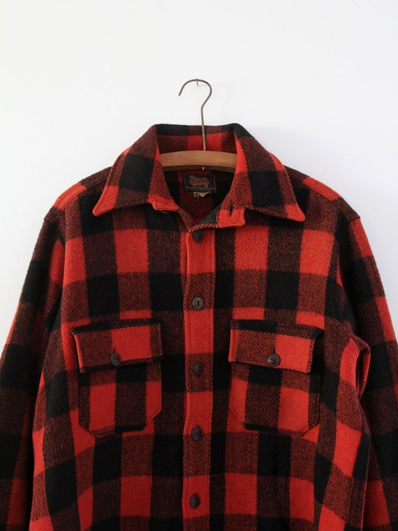 vintage 1940s Woolrich shirt,  red plaid jacket - image 2