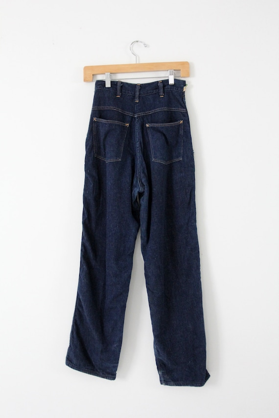 1950s side zip jeans,  flannel lined denim,  Kitt… - image 3