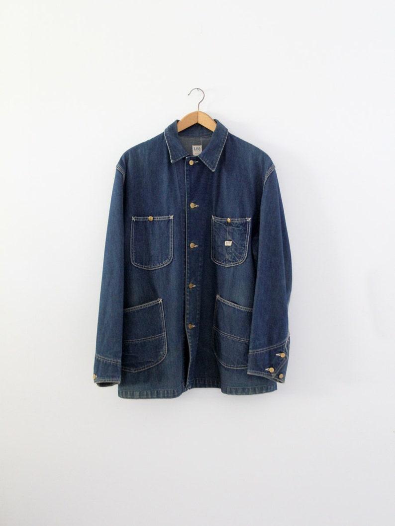 489d4c5aebd Vintage 50s Lee barn coat men's denim work jacket   Etsy