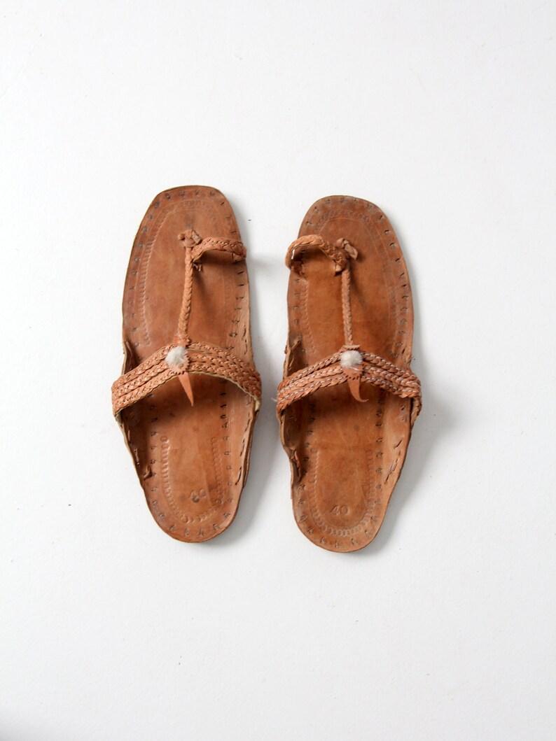 f2a10321db87d vintage leather sandals, men's shoes, size 10