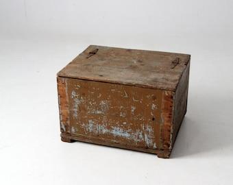vintage rustic wooden storage box