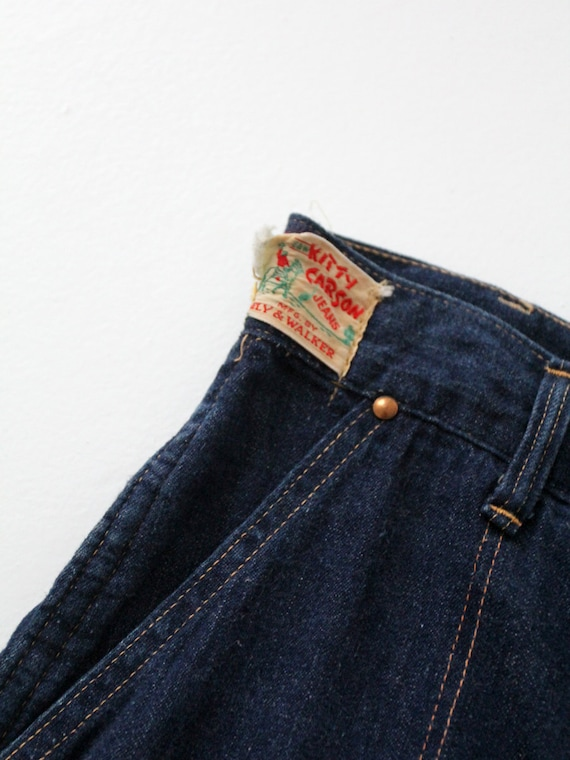 1950s side zip jeans,  flannel lined denim,  Kitt… - image 5