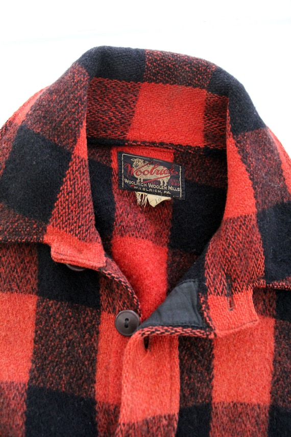 vintage 1940s Woolrich shirt,  red plaid jacket - image 5