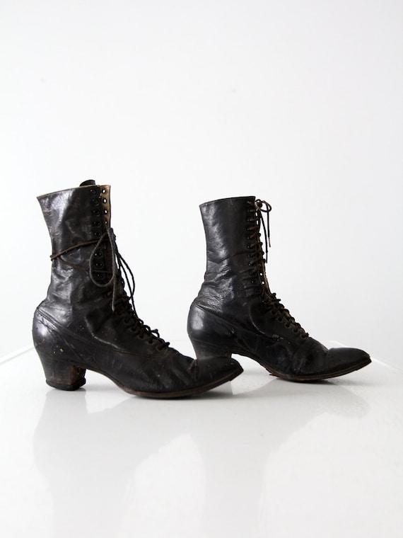 Victorian shoes,  antique black women's boots