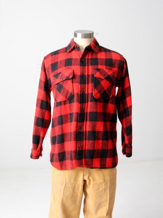 vintage 60s Montgomery Ward buffalo plaid shirt