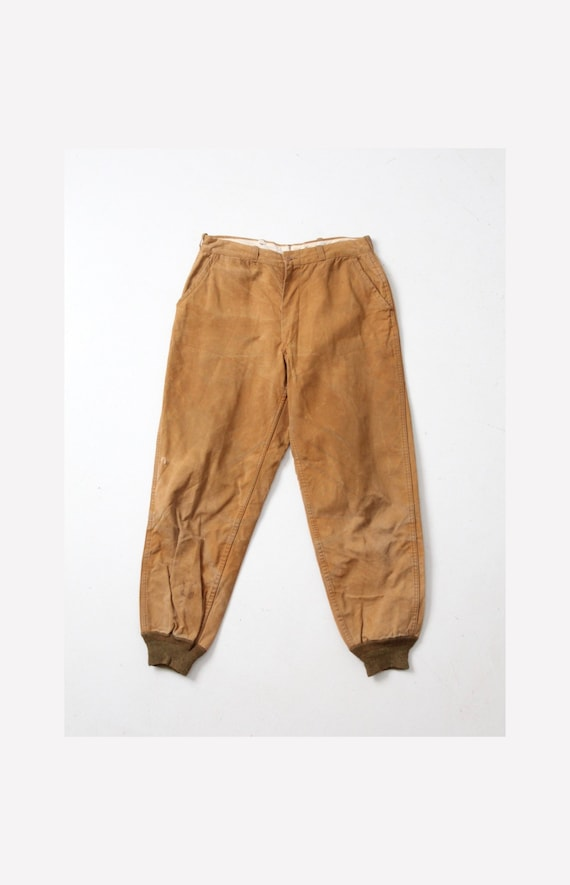 vintage Drybak hunting pants, 1940s canvas pants 3