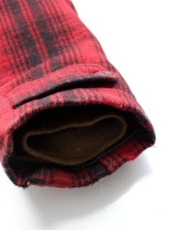 des années 1950 Woolrich mackinaw manteau, veste de chasse à carreaux rouge en laine pour homme vintage