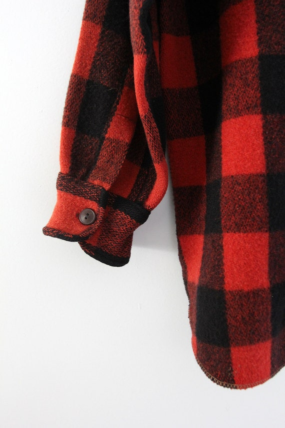 vintage 1940s Woolrich shirt,  red plaid jacket - image 4