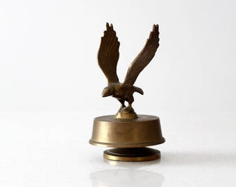 vintage brass eagle, eagle paperweight