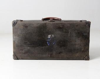 vintage hardboard luggage, black suitcase